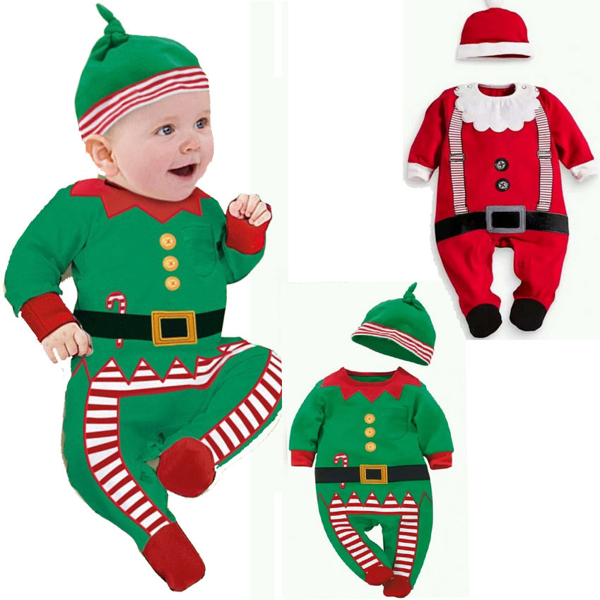 Hot 2017 Unisex Newborn Infant Baby Boys Girl Christmas Xmas Clothes Romper Hat Outfit Costume Toddler Hot 2017 Unisex Newborn Infant Baby Boys Girl Christmas Xmas Clothes Romper Hat Outfit Costume Toddler Cartoon Kids Clothes Sets