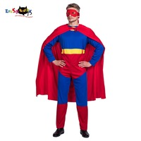 Super Hero Costume Cosplay Men Superhero Adult Cloak Red Cape Costume Halloween Party Carnival Men Cosplay Outfit Suit 2018 NEW