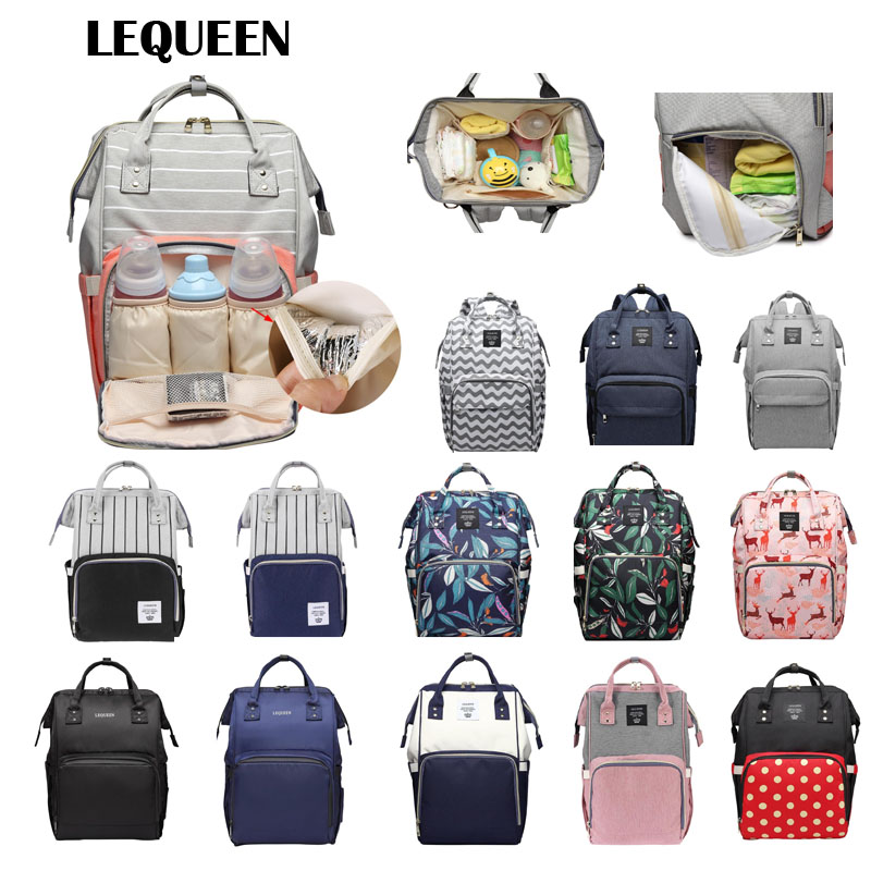 LEQUEEN Brand Baby Diaper Bag Backpack Mommy Maternity Nappy Bag Large Capacity Baby Care Bags Mummy Maternity Nappy Bags