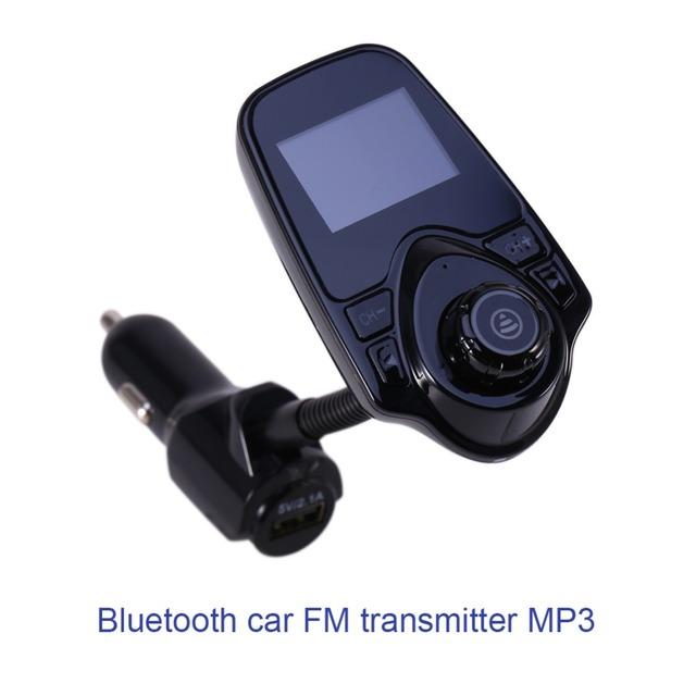 MP3 del coche Reproductor de Audio Bluetooth Transmitter LCD Modulador de FM Inalámbrico de Coche Manos Libres Transmisor FM Reproductor de MP3 USB