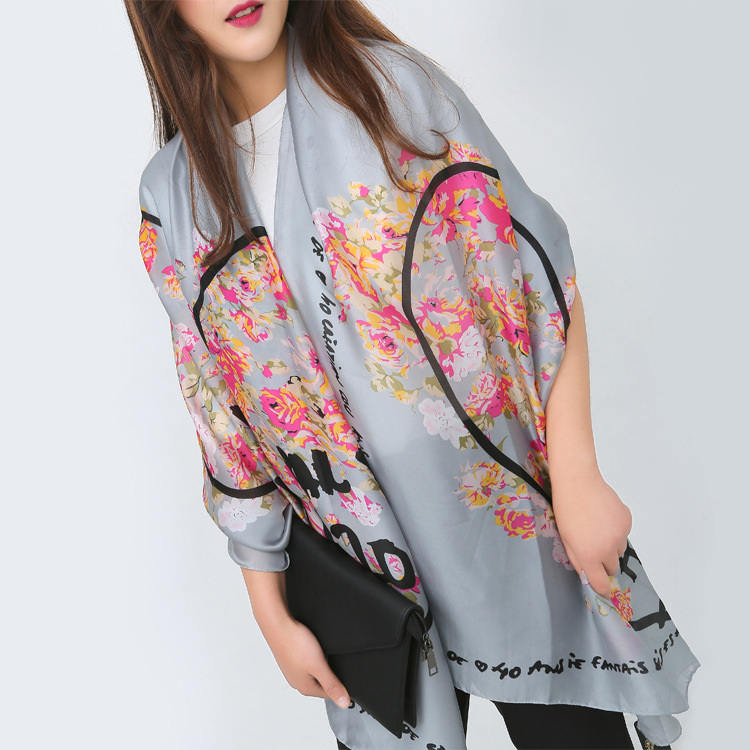 Alphabet print light gray classic with scarves sun shade shade