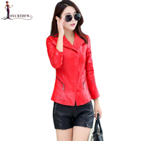 Summer Real Large Size M 5xl Women Bomber Orange Leather Jacket 2018 Autumn New Fashion Short Motorcycle Red Sheepskin Coat 264