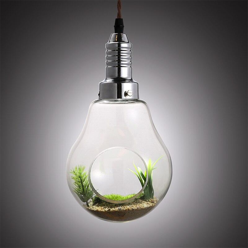 Creative Sand Plant Vase Glass Large Bulb Garden Decorative Pendant