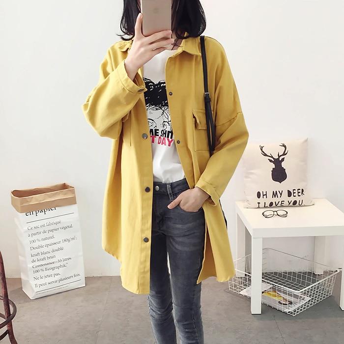 CHICEVER Long Sleeve Loose Plus Size Women Jacket Female Coat With Pockets 2017 Autumn Fall Fashion Clothing  1