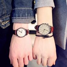 Модные Винтажные студенческие парные часы, кожа, кварцевые, топ бренды, мужские часы, повседневные спортивные наручные часы для женщин, Relojes