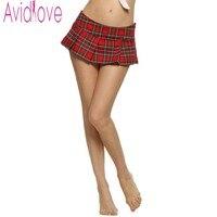 Avidlove Fashion Women Mini Skirt Sexy Lady Schoolgirl Cosplay Plaid Pleated Skirt Autumn Vintage Mini Plaid