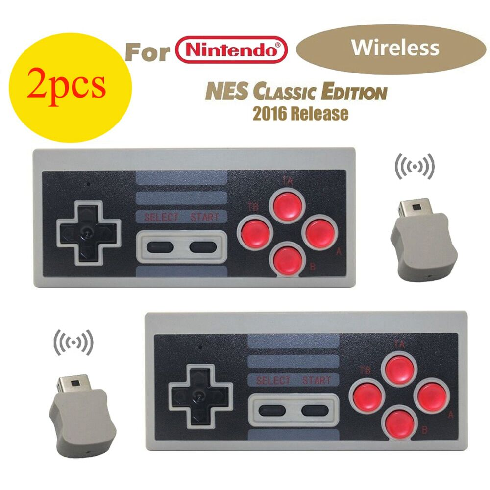 Wireless USB Plug and Play Gaming Controller Gamepad for NS Nintendo NES Mini Buttons Classic Edition With Wrireless Receiver