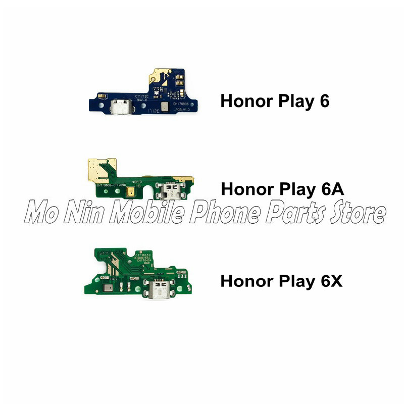 New Microphone Module+USB Charging Port Board Flex Cable Connector Parts For Huawei Honor Play 6 6A 6X Replacement