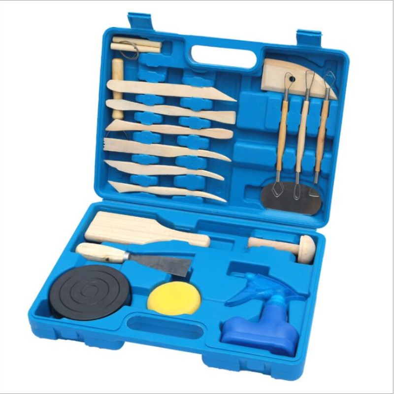 Hot Clay Sculpting Tools - Pottery Sculpture Modeling/Carving Tool 19 PCS Set for Ceramics Beginners and Professional Art cake decoration carving modeling tools set yellow 14 pcs