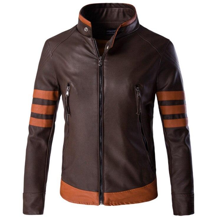 Grande taille 5XL hommes vestes en cuir nouveauté col montant moto en cuir vestes et manteaux Top qualité confortable jaket