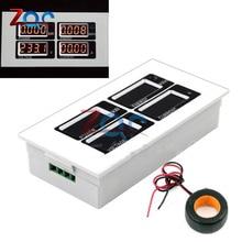 AC 110V 220V 4 LCD Digital 100A watt power Voltage Current Meter Volt amp Monitor Ammeter Voltmeter Instruments KWh 80-260V