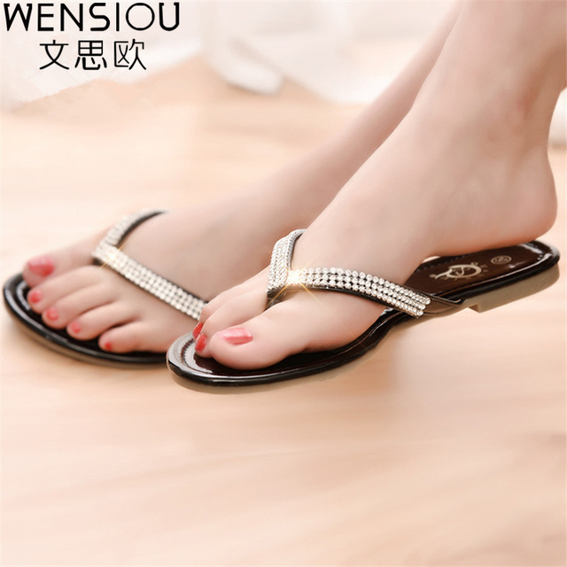 428c9db08491b8 ... Hot sale women sandals flip flop ladies shoes fashion rhinestone  sandals shoes gladiator ladies sandals women  PU Leather ...