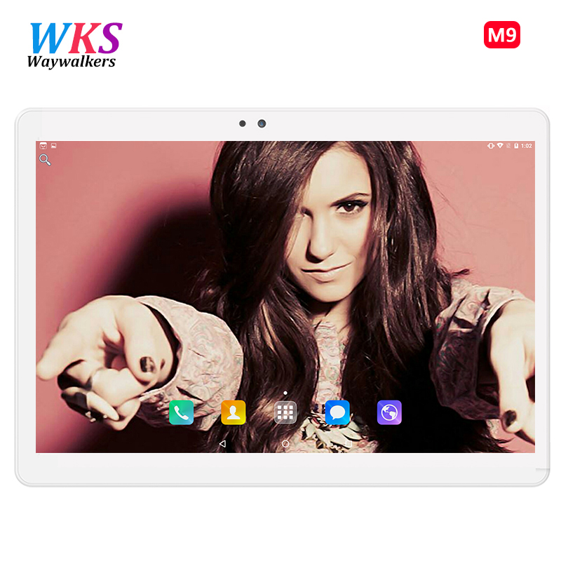 цена 10.1 inch Tablets Phone Call Dual SIM card 2G 3G WCDMA Quad Core FM WiFi make call Tablet pc Android 7.0 WiFi bluetooth 4GB+32GB