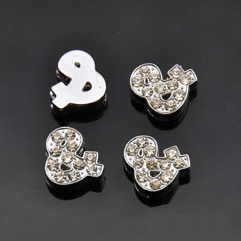 Detail Feedback Questions about 10PCS 8mm Silver Rhinstone   Symbol ... 39861801031c