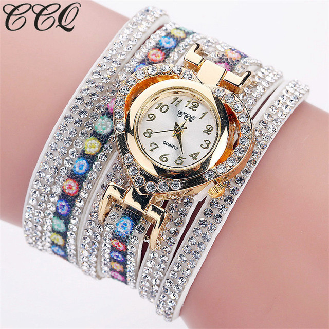 2017 CCQ New Fashion Luxury Women Bracelet Watch Ladies Quartz Watch Casual Wome