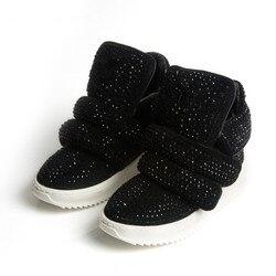 Koovan Bambini Sneakers 2017 Autunno Inverno Bambini Scarpe Stivali di Pelle di Strass Sport delle Ragazze Dei Ragazzi di Sport di Modo Stivali Caldi