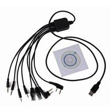 Dla YAESU BAOFENG UV 5R 8 w 1 USB kabel do programowania dla Kenwood dla Motorola Radio dla ICOM Retevis H777 Walkie Talkie