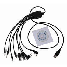 Para YAESU BAOFENG UV 5R 8 em 1 Cabo de Programação USB para Kenwood para Motorola Rádio Para ICOM Retevis H777 Walkie Talkie