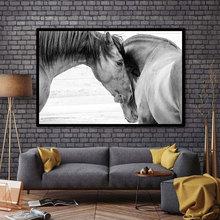Фотография HD Printed Canvas Art Animal Horses Decorative Wall Art Picture Home Decor Modular Paintings For Living Room