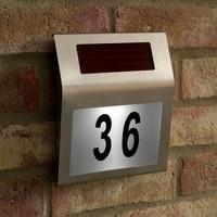 Led Solar Light Outdoor Stainless Solar Powered 3LED Illumination Doorplate Lamp House Number Light Outdoor Lighting