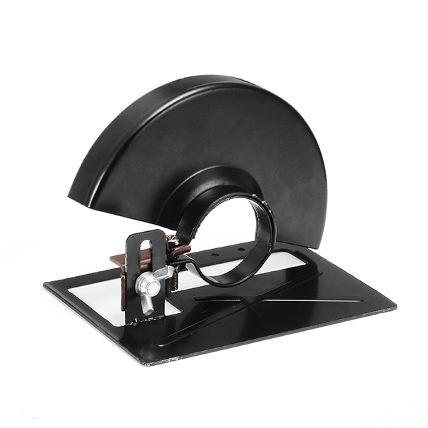 Black Cutting Machine Base Metal Wheel Guard Safety Protector Cover For Angle Grinder Grinding Machine Rack Tool Accessories
