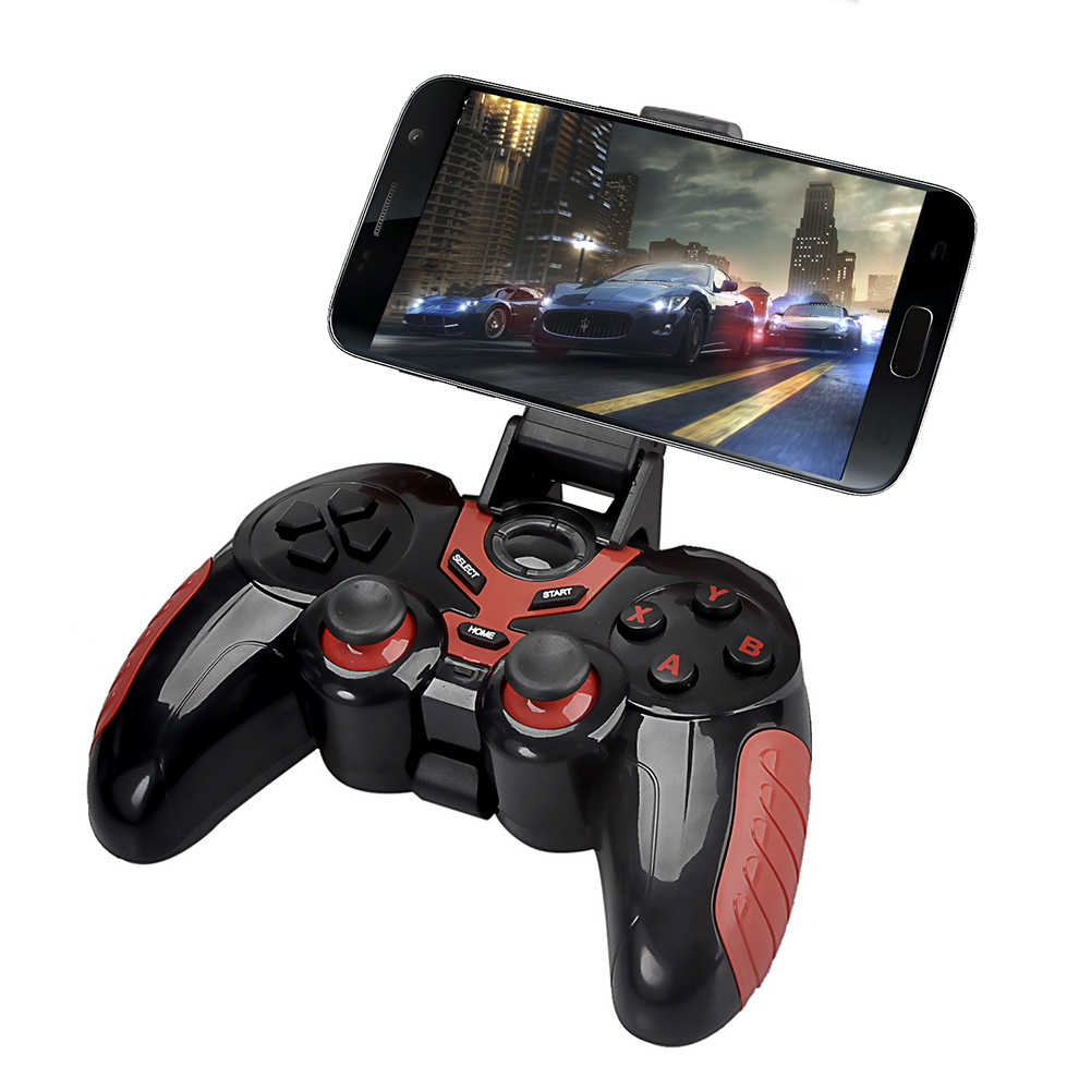 Wireless Bluetooth Game Controller with Phone Holder Gaming Joystick Gamepad for Android for iOS Tablet PC