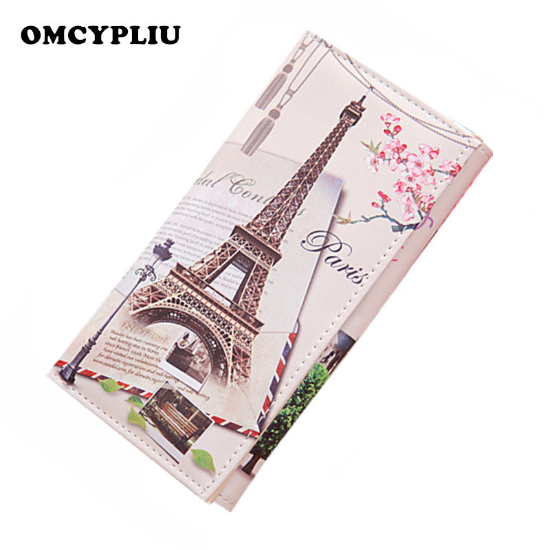 2018 Fashion Women Wallet Clutch Purses Long Graffiti Pattern Embossed Coin Leather Dollar price Female Purse Carteras