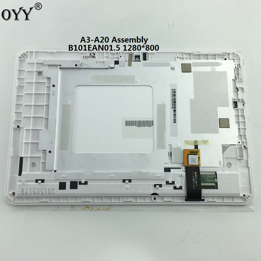 1280x800 LCD Display Touch Screen Matrix Digitizer Tablet Assembly with frame for Acer Iconia A3-A20 A3 A20 not for 1920X1200 for acer liquid jade z s57 lcd display with white touch screen digitizer frame assembly by free shipping 100