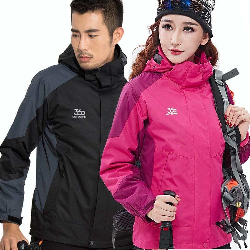 2019 Men And Women Ski Jacket Winter Snowboard Suit Men's Outdoor Warm Waterproof Windproof Breathable 2 In 1 Jackets