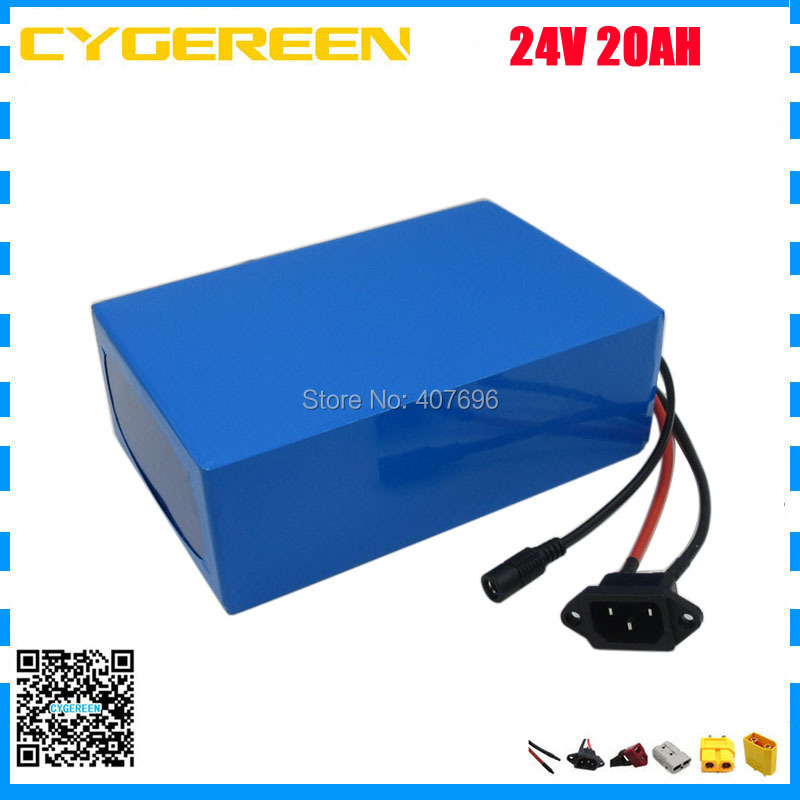 Free shipping 700W 24V lithium battery 24V 20AH electric bike battery 24 v battery with 30A BMS 29.4V 3A Charger 24v e bike battery 8ah 500w with 29 4v 2a charger lithium battery built in 30a bms electric bicycle battery 24v free shipping