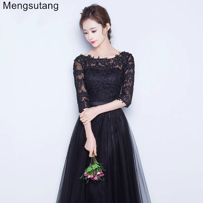 Robe de soiree 2019 Black & grey lace Short party dress thin slim evening dress vestido de festa prom dresses Custom Made