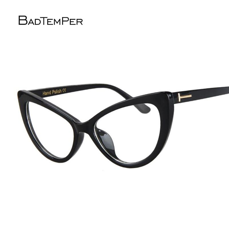 Badtemper 2018 Fashion Katzenaugen-sonnenbrille Frauen Klare Linse Kleine cateye Sonnenbrille Vintage Marke Desinger Sonnenbrille Weiblich