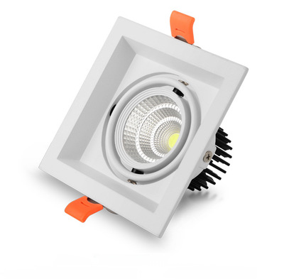 Led Downlight Square Led Spot Chandelier Ceiling Super Brigh Square Dimmable Led Cob Ceiling 20w Recessed Lights Indoor Lighting Downlights