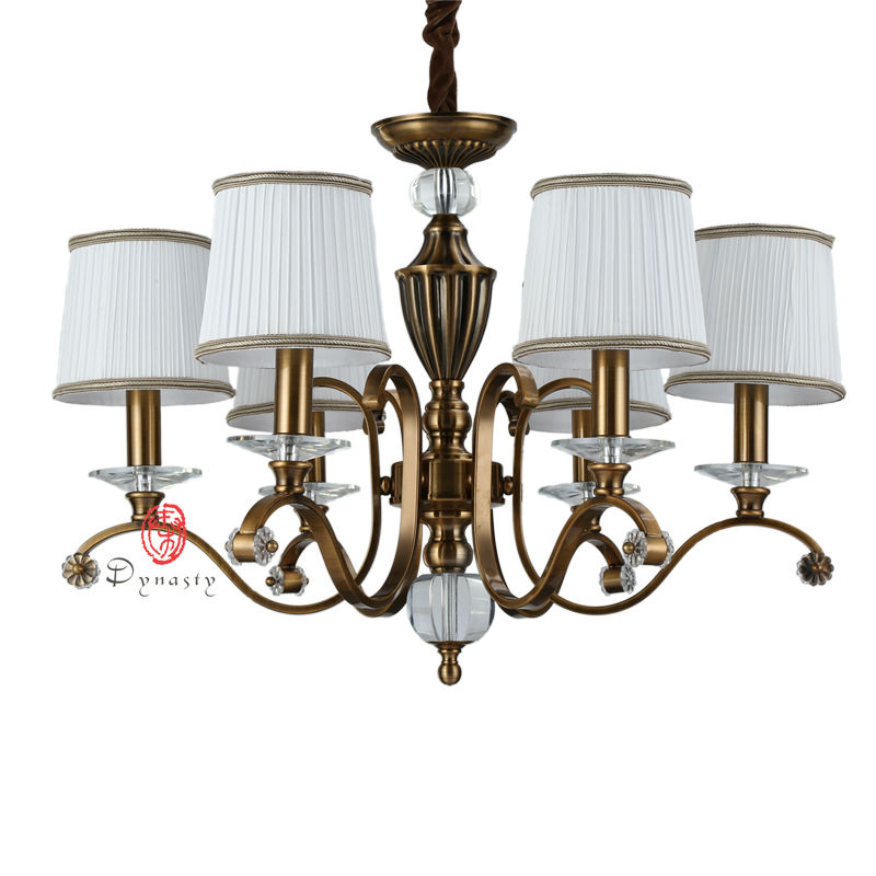 American Art Decoration Antique Copper Brass Chandelier AC110/220V Elegant  Hotel Foyer Cafe 6/ - Online Get Cheap Antique Copper Chandeliers -Aliexpress.com