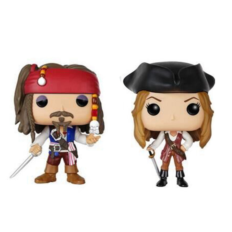 The Pirates of the Caribbean Action Captain Jack Sparrow Elizabeth Swann Figure Toy For kids Christmas Gifts ...