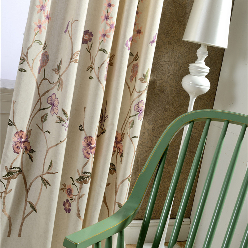 swags curtains ivory floral tiers pair swag vine lhf