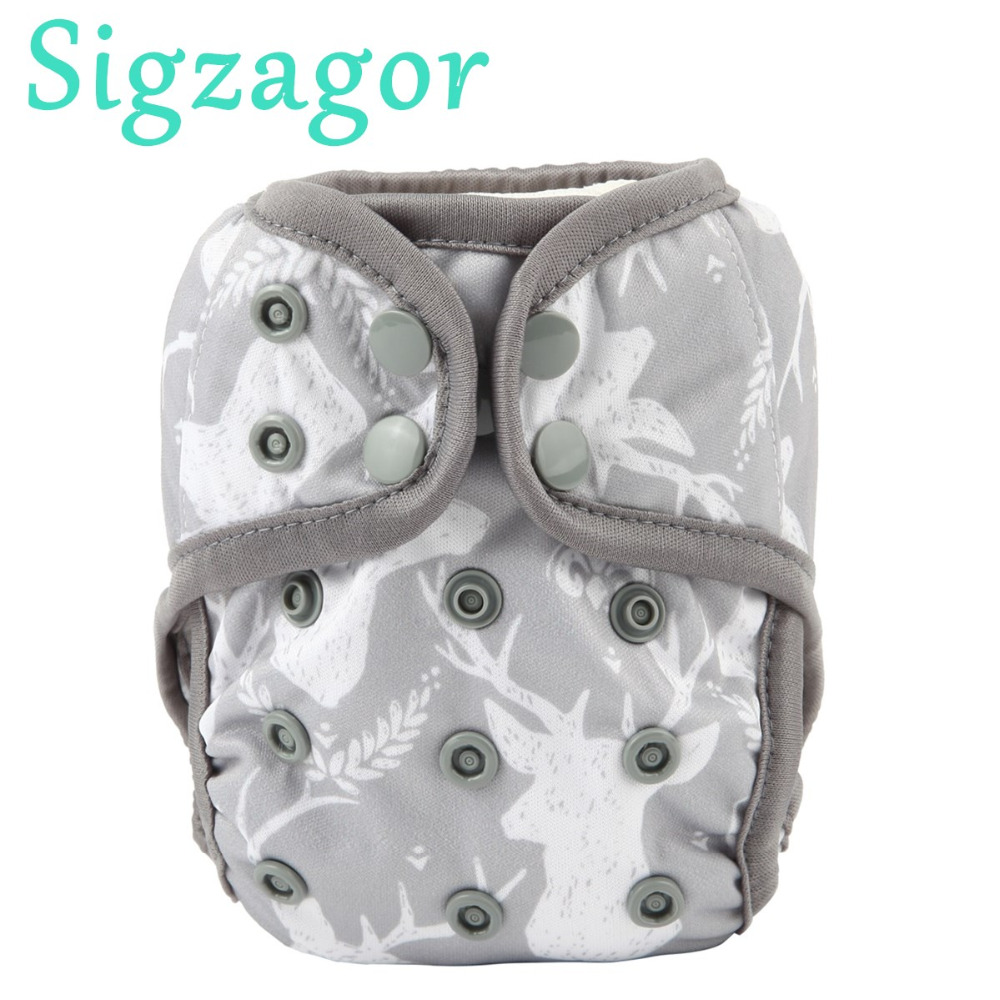 Sizgaor 9 Newborn Baby Cloth Diaper Covers Nappies Adjustable Waterproof PUL Double Leg Gusset 4