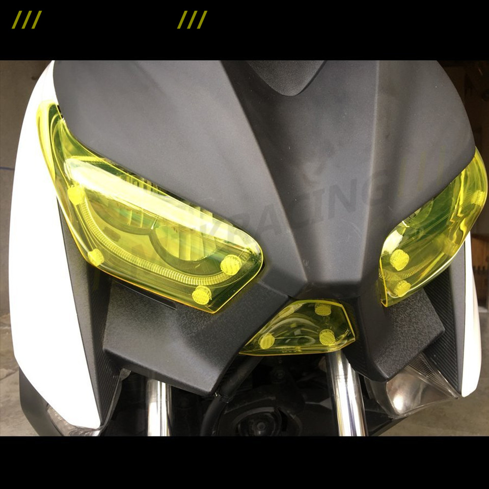 MTKRACING For Yamaha XMAX250 2016-2017 XMAX300 2017-2018 Headlight Protector Cover Screen Lens High Quality Motorbikes Acrylic mtkracing for kymco ak550 motorcycle parts headlight protector cover screen lens ak 550 2017 2018
