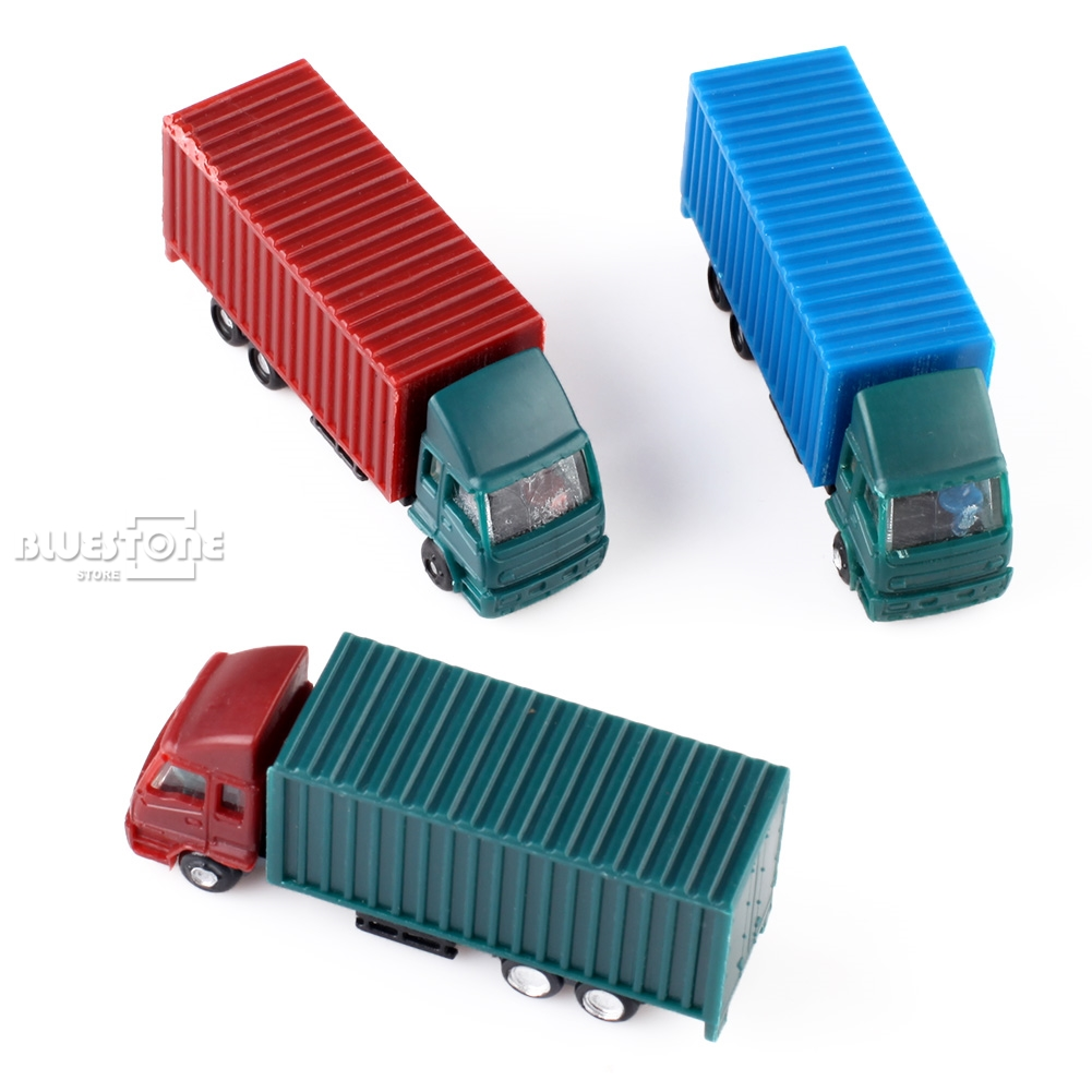 NEW 5PCS 1:150 N Scale Plastic Container Colorful Truck Model Cars Toys Railway