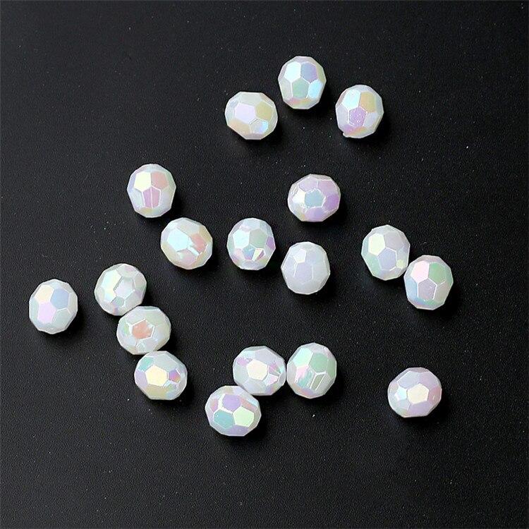 Transparent Cut Faceted Plastic Water Drop Beads 100pcs//lot Wholesale European