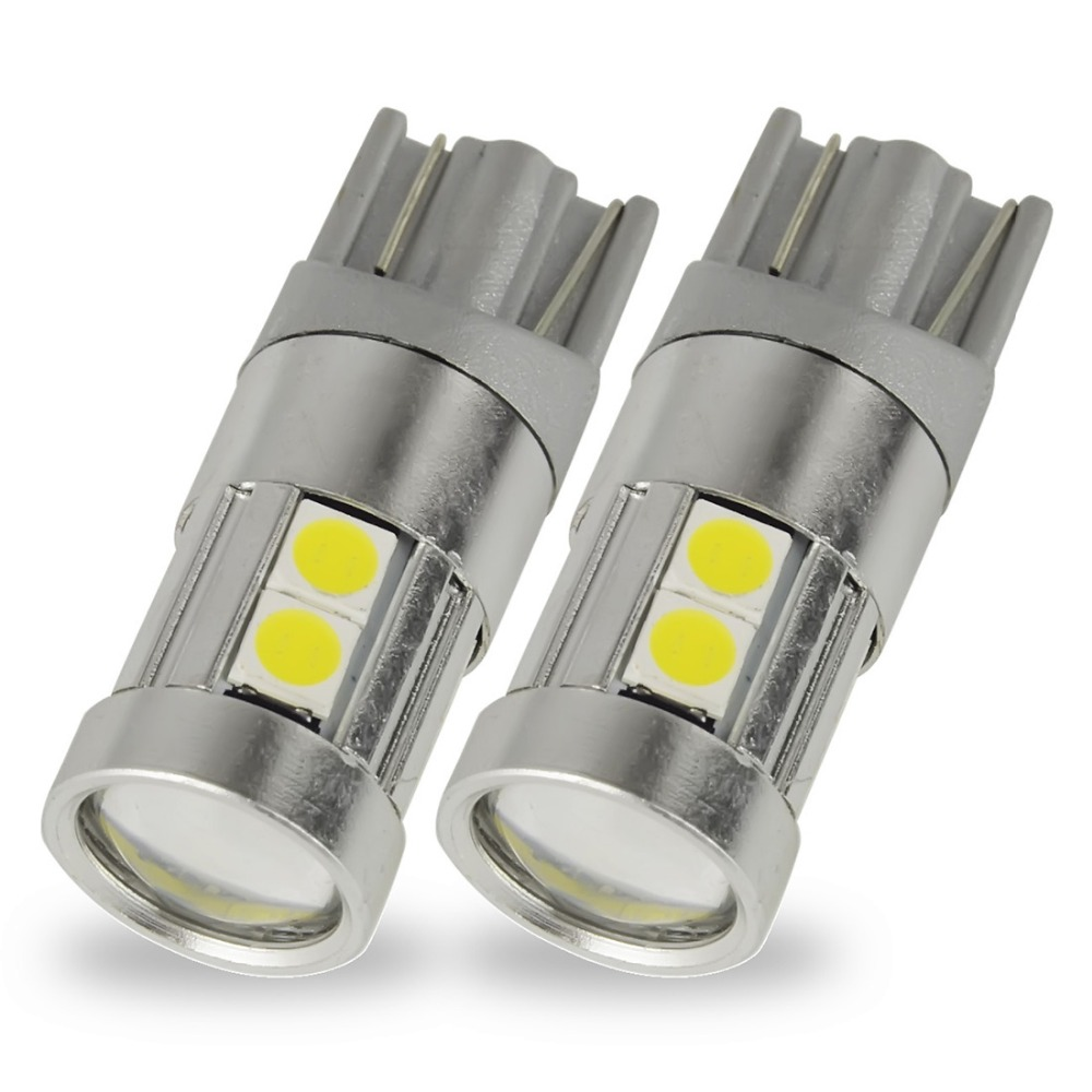 Safego 2pcs W5W T10 LED 5 SMD 9 SMD 3030 LED Light Bulbs Projector Lens Car Dashboard Side Marker Courtesy Interior Light Bulb