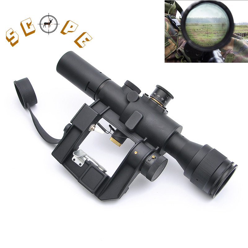 Tactical Hunting SVD Dragunov Optics 4x26 Red Illuminated Rifle Scope Airsoft Red Dot Sight Sniper Gear pso 1 soviet russian sniper svd ak47 romak norinco dragunov scope warsaw pact 4x26 telescopic sight optical hunting accessories