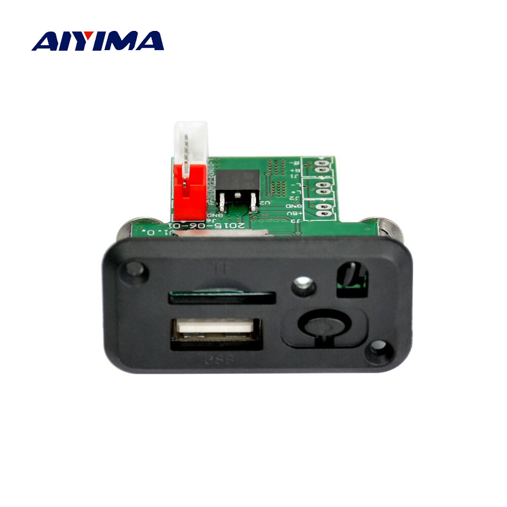 Aiyima Mini 12V MP3 Audio Decoder Board Lossless WAV MP3 Decoders Stereo Two-channel Audio Output Support TF Card U Disk dhl free 100pcs lot mini mp3 player module dfplayer mp3 tf 16p support mp3 wav wma tf card fat16 32 with simplified output