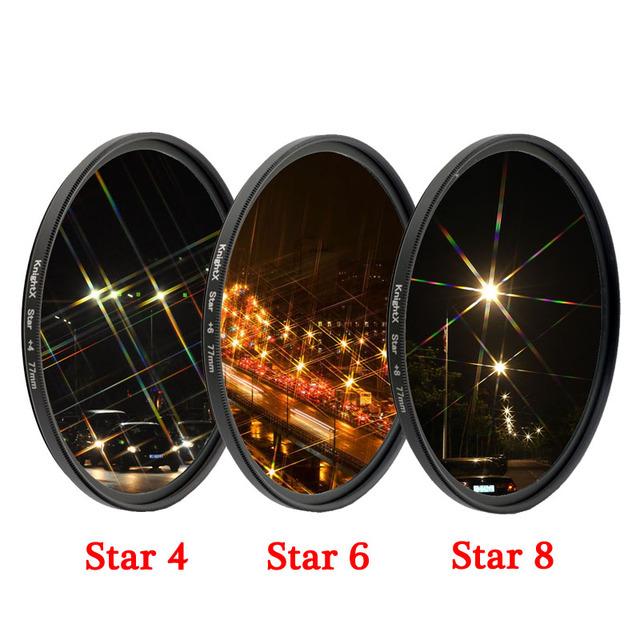 KnightX Star Line 52MM 55MM 58MM 67MM 77MM Camera Lens Filter For canon eos sony nikon d3300 400d 18 135 d5100 photo photography