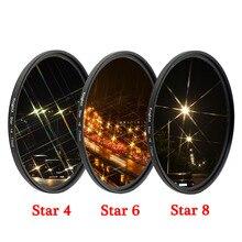 KnightX Star Line 52MM 55MM 58MM 67MM 77MM filtre dobjectif dappareil photo pour canon eos sony nikon d3300 400d 18 135 d5100 photographie photo