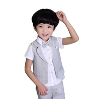 Children Suit Baby Boy Birthday Dress Kids Blazer Boys Formal Suit For Weddings Boys Shorts Clothes Set Vest Pants Shirt