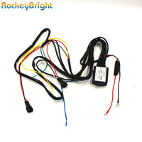 Rockeybright DRL контроллер авто светодиодные Габаритные огни жгута реле диммер на выключатель 12-18 В туман свет контроллер
