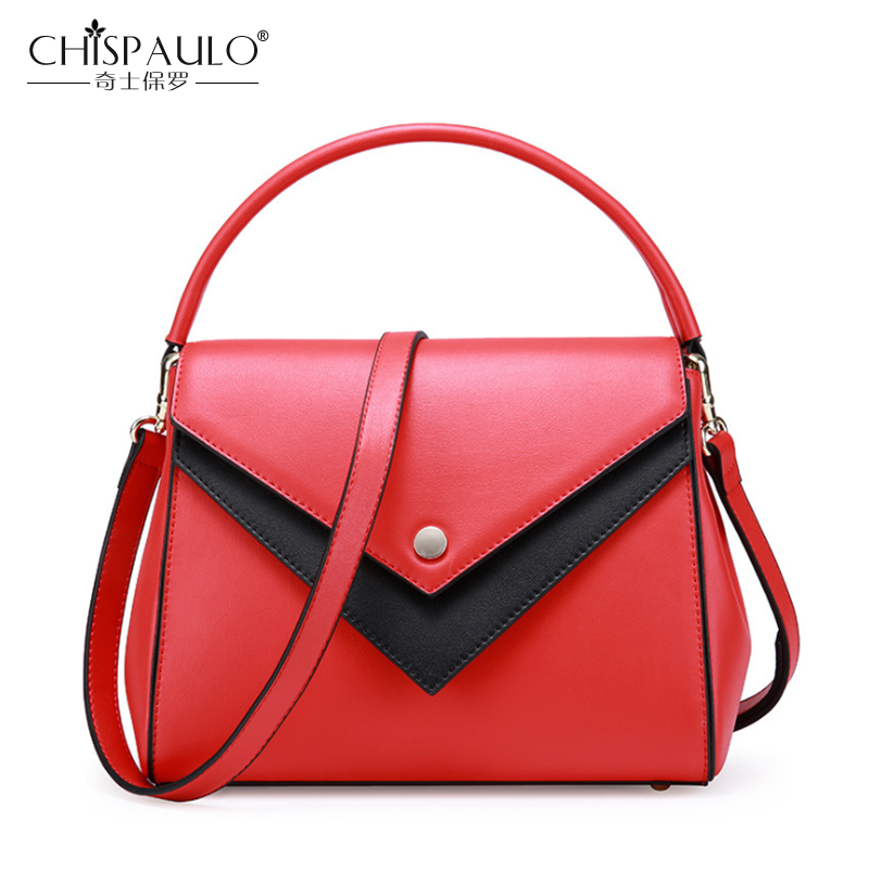 2018 Genuine Leather Women Handbag High Quality Natural Leather Panelled Ladies shoulder Bags Luxury Female Crossbody Bags female genuine leather bags large shoulder crossbody handbag 2018 high quality big ladies bags women cowhide leather
