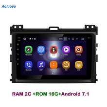 Aoluoya RAM2G Android 7.1 CAR DVD Player Radio GPS Navigation For Toyota Prado 120 Land Cruiser 2002-2010 Audio head unit 3G