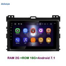 Aoluoya RAM2G Android 7,1 dvd-плеер автомобиля радио gps навигации для Toyota Prado 120 Land Cruiser 120 2002-2010 аудио головное устройство 3g